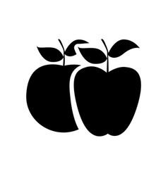 black differents apples icon vector image
