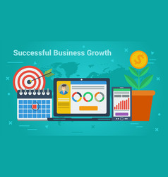 business banner - successful business growth vector image