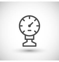 Manometer line icon vector image