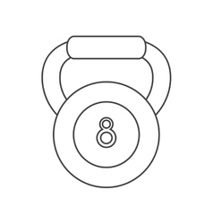 outline kettlebell weight fitness gym icon vector image