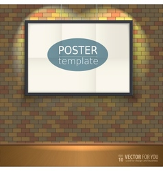 Poster template with frame Easy to edit vector image