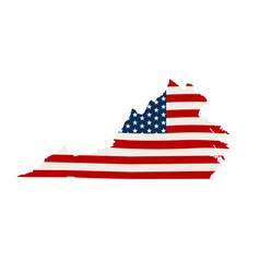 Virginia patriotic map graphic design vector