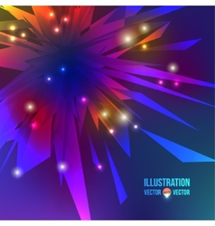abstract background of multicolored fragments vector image