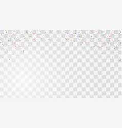 abstract colorful flying confetti background vector image