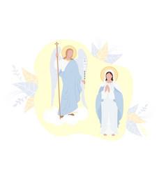 Annunciation most holy theotokos virgin mary vector
