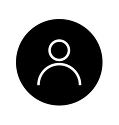 Avatar icon on black round avatar flat symbol vector