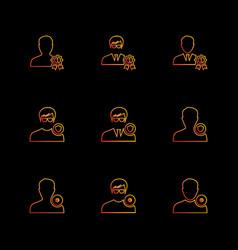 Avtar user profile avatar eps icons set vector
