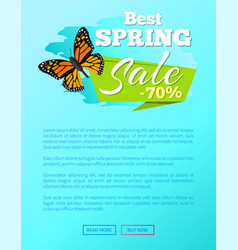 best spring sale 70 off sticker butterfly vector image