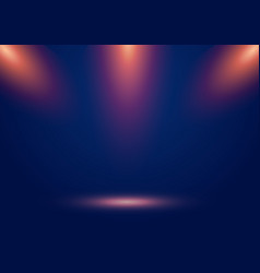 blue stage show background with spotlights and vector image