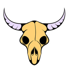 buffalo skull icon icon cartoon vector image