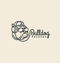 Bulldog records logo vector