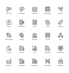 Business and finance line icon 17 vector