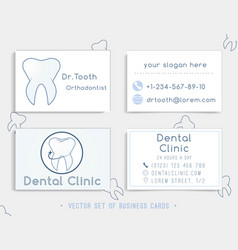 Business card template design for dental clinic vector