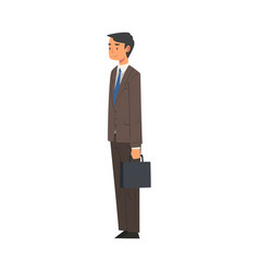 businessman character in business suit standing vector image