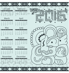 Calendar in aztec style with hieroglyphs vector