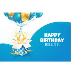 Celebrating 12 th years birthday 3d vector