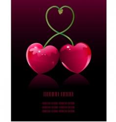 cherry love vector image