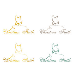 Christian faith pigeon vector