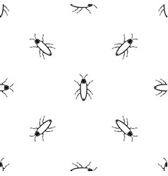 Cockroach pattern seamless black vector