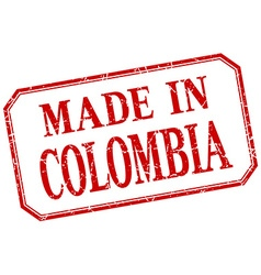 Colombia - made in red vintage isolated label vector