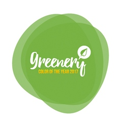 Color of the year 2017 greenery background vector
