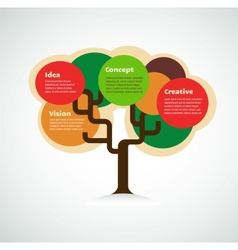colorful tree with space for text infographics vector image