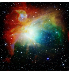 Colorful Universe filled with stars nebula and vector image