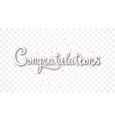 Congratulations banner with gold confetti vector