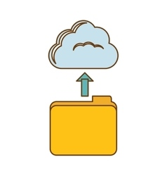 database storage icon image design vector image