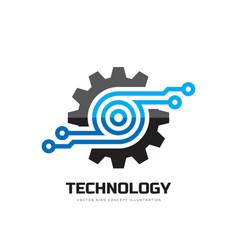 digital tech - business logo template vector image