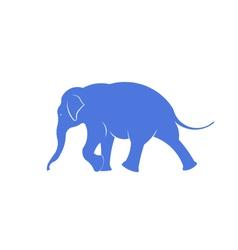Elephant walking icon vector