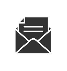 email black icon vector image