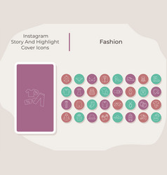 fashion social media story and highlight cover vector image