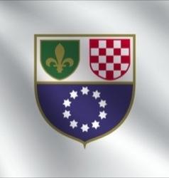 Federation of bosnia and herzegovina flag vector