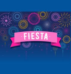 Fiesta fireworks and celebration background vector