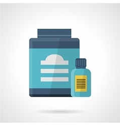 Flat color style icon for sport supplements vector image