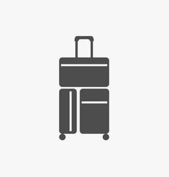 flat of suitcase icon isolated vector image