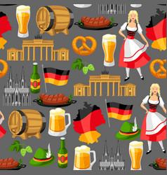 German seamless pattern germany national vector