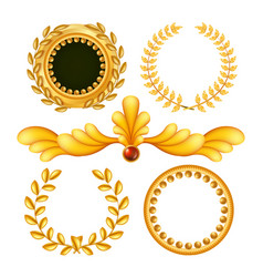 gold vintage royal elements antique frame vector image