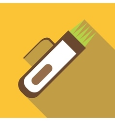Hair clipper icon flat style vector image