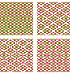 Holiday plaids vector
