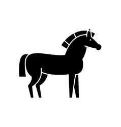 horse icon sign on isolate vector image