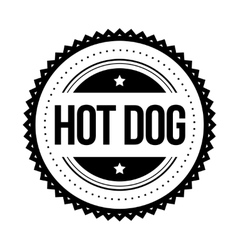 Hot Dog vintage stamp vector