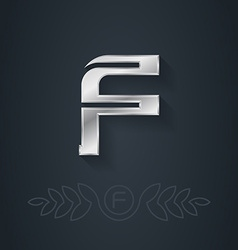 Letter F Template for company logo with monogram vector image