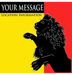 lion message vector image