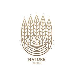 Logo circle garden vector