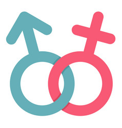male and female symbol icon isolated vector image