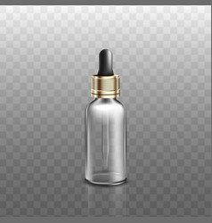 Medical or cosmetic bottle with dropper realistic vector