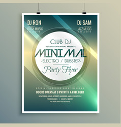 Minimal club music flyer brochure template in vector