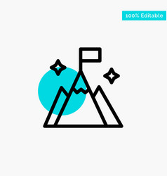 Mountain flag user interface turquoise highlight vector